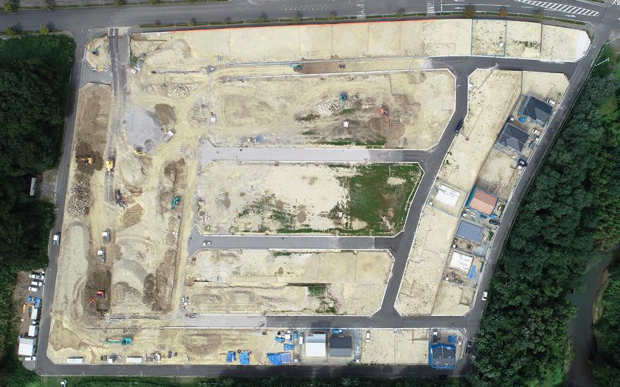 宮の杜ニュータウンドローン空撮写真3